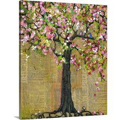 Original Artwork, Mixed Media Collage Art, Tree Art, Canvas Painting, Two Birds… Art Du Collage, Collage Art Mixed Media, Poster Collage, Tree Collage, Abstract Canvas, Canvas Wall Art, Artwork Wall, Abstract Print, Tree Artwork