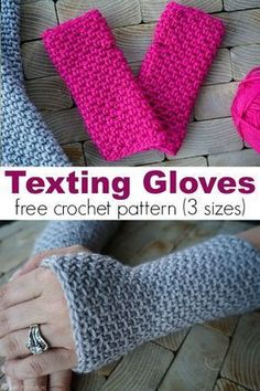 In the market for some new texting gloves? If you can crochet the single crochet you can make the gloves! Three sizes include child, adult small, and large. via gratis fingerlose Handschuhe Texting Gloves Crochet Pattern (child, adult small, large) Fingerless Gloves Crochet Pattern, Crochet Beanie, Knitted Gloves, Fingerless Mittens, Crochet Mittens Free Pattern, Crochet Scarfs, Crochet Simple, Crochet Diy, Small Crochet Gifts