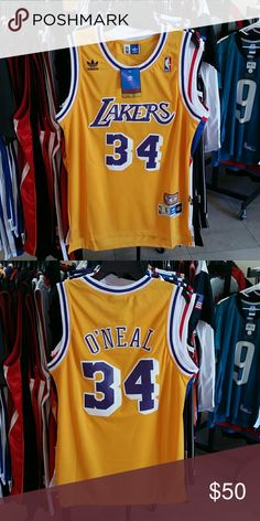 4d4388f79b2 Listing not available - adidas Other from Jason's closet on Poshmark.  Lakers Throwback JerseyShaq O NealAdidas ...