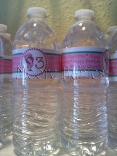 Weu0027ve all seen those super cute personalized water bottles floating around right? So I decided I was going to do those for Charlotteu0027s . & how to make custom water bottle labels | The Best of The Cutting ...