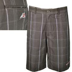 Grey Utah Utes Mens Plaid Shorts