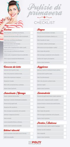 Pulizie di primavera Cleaning Checklist, Cleaning Hacks, Agenda Planning, Grand Menage, Home Binder, Ideas Para Organizar, Flylady, Home Organisation, Desperate Housewives