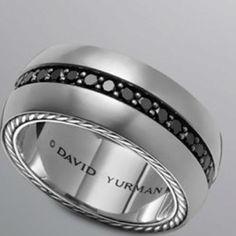 Mens wedding band, David Yurman, $1550.00 *FI liked this one. #MensWeddingRing #MensWeddingBand #MansRing