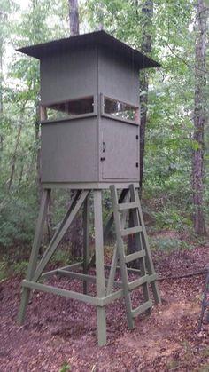 4x6 Hunting Blind On Stand Elevated Tower Platform Deer