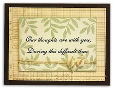 Our Thoughts are With You Card from the @Crafts Direct Card Chaos for Everyday Moments Event.