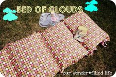 """Tutorial for pillowcase bed.  """"Bed of Clouds Tutorial {Our Wonderfilled Life} 