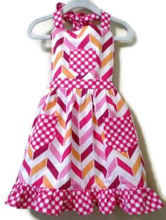 Chevron Apron Children's Apron Toddler apron by KelleenKreations, $20.00