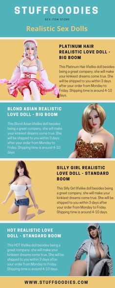 Check out realistic Sex doll online, Enjoy her succulent mouth bodacious breasts passionate Love doll for masturbation Order now! Lifelike Dolls, Passionate Love, Platinum Hair, Kinky, Infographics, Breast, Check, Realistic Dolls, Infographic