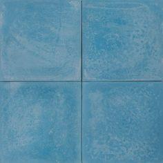 Cement Encaustic Tile Plain Colour MId Sky Blue # 19A