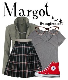 """Margot - Despicable Me"" by sassyfrasscat ❤ liked on Polyvore featuring Scotch & Soda, Retrò and Converse"