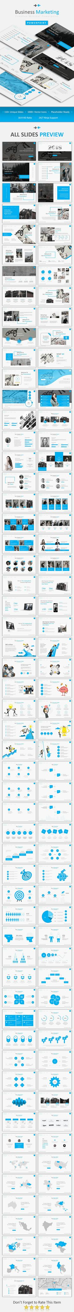Business Marketing #Powerpoint - #Business PowerPoint #Templates