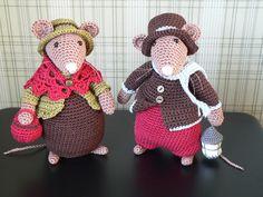 mijn zelfgehaakte muisjes :-)  Koopatroon van handmade with love by Antoinette, met enkele aanpassingen van mezelf.
