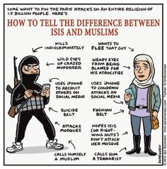 Some want to blame the Paris attacks on an entire religion. Here's an explanation for the radically confused, in simple cartoon form.
