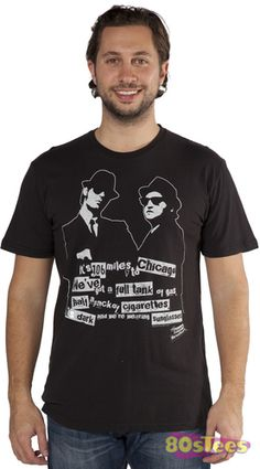 Blues Brothers Its 106 miles to Chicago shirt with Jake and Elwood Blues, Dan Aykroyd and John Belushi. Tons of old-school Movie shirts, fast shipping. Order now.