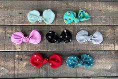 Handmade Bow Set | Nylon Headbands or Clips | The Lola Bow- Sweetheart Prints by RudysCutiesShop on Etsy