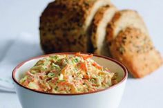 Pestrá pomazánka | Apetitonline.cz Guacamole, Baked Potato, Ham, Carrots, Food And Drink, Appetizers, Yummy Food, Yummy Recipes, Menu