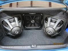 3 KICKER L7 15's, custom box in a 2009 Chevy Impala
