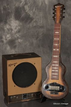 1940's KALAMAZOO Oriole lap STEEL GUITAR w/matching amplifier!!!