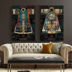 Chinese Classical Antique Robes Canvas Wall Art