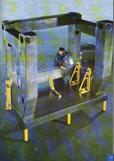 3D clamping system, welding table, modular fixturing, weld work table for steel processing and stainless steel processing, 3D-welding-table