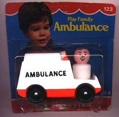 Little People ~ Accessories: Transportation = Play Family Ambulance - Toys For Boys, Kids Toys, Hobby Town, Ambulance, School Fun, Fisher Price, Back In The Day, Little People, Old And New