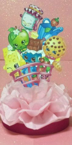 Shopkins birthday party centerpiece Table decoration super cute!