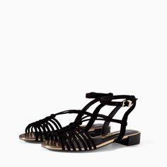 Image 3 of CROSSOVER FLAT SANDAL from Zara