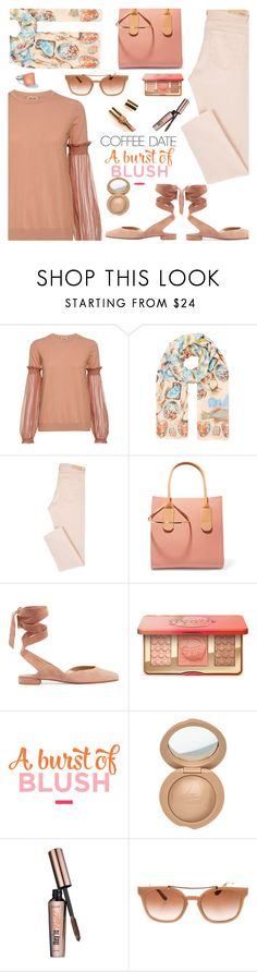 """There's Always Time for Coffee"" by juliehooper ❤ liked on Polyvore featuring N°21, Temperley London, Roksanda, Stuart Weitzman, Too Faced Cosmetics, Benefit, Tory Burch, Ippolita, blush and polyvoreeditorial"