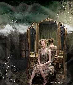 Vintage — Mirror — Victorian' ❤ - made by BabySavira Mababe with Bazaart #collage