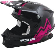 FXR Racing - Snowmobile Gear - Blade Super Lite MTN Air Helmet - Black/Fuchsia