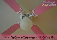 How to Update or Repurpose an Outdated Ceiling Fan #upcycling