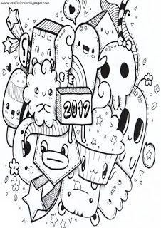 Printable Happy New Year coloring page Free PDF download at http