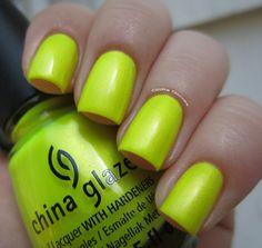 Glitta Gloves: China Glaze Sun-Kissed