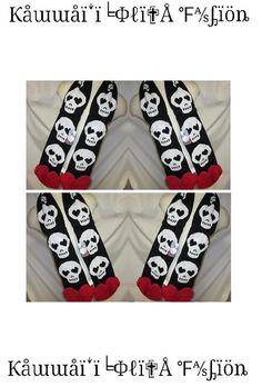 SKULL HEART SCARF    Perfect for those looking to expand their Visual Kei, Harajuku, Gothic, or Punk Collection!