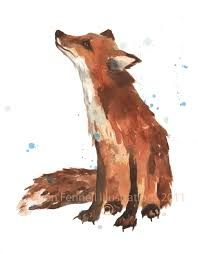 fox art print - Google Search