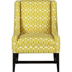 I need this chair to cheer me up on rainy days, Chloe chair, $1000 Crate & Barrel.