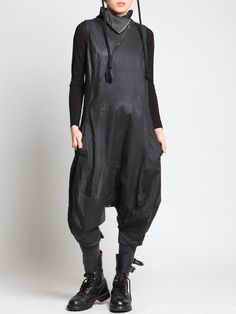 JUMPSUIT WITH A HAND SPRAY FINISH - JACKETS, JUMPSUITS, DRESSES, TROUSERS, SKIRTS, JERSEY, KNITWEAR, ACCESORIES - Woman -