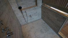 #Juralimestone slip tiles to high end #shower