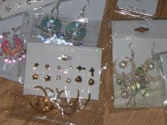 Mixed Earrings*  25 Pairs  Free and Fast Shipping