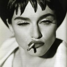 INSPIRATION: MADONNA - MUA: Joanne Gair pairs beaded lashes & signature lip creating the early iconic muse | PHOTO: Herb Ritts