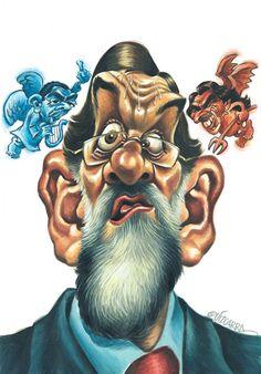 Gran caricatura de Mariano Rajoy, tanto por la expresión, como por el estilo al que nos tiene aco...