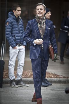 Pitti Uomo Fall 2013, Florence (Another printed scarf - Really liking this trend on men)