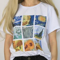 Van Gogh van gogh t shirt, impressionist, starry night clothes, starry night clothing, art, painting shirt, painting clothes, famous, aesthetic outfit, aesthetics, grunge, soft grunge, grunge fashion, aesthetic clothes, aesthetic outfit, pale grunge, pastel grunge, aesthetic tumblr