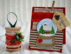 idea for christmas wooden spool
