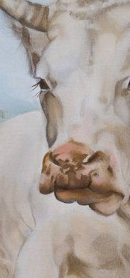 Cow painting Eulalie giclee print by on Etsy Cow Pictures, Animal Pictures, Watercolor Images, Watercolor Paintings, Close Up Art, Fractured Fairy Tales, Bull Painting, Cow Art, Vintage Images