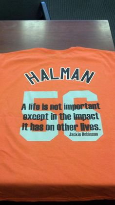 Mike Carp had these shirts made for the team in memory of Greg Halman.