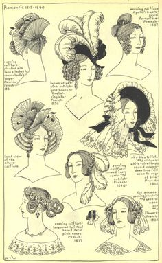Romantic hats and head dresses
