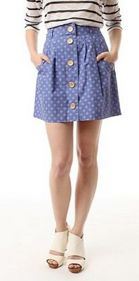 button down skirt - free pattern and tutorial