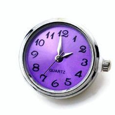 Purple Quartz Watch Snap Charm