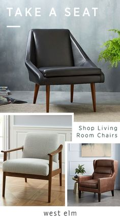 Refresh your living room and give yourself some new seating options with a chair from west elm. Our living room chairs are available in a wide range of styles and sizes, and you can choose the options that work best for the way you relax. Shop today.